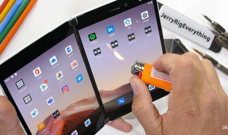 Microsoft Surface Duo протестировали на прочность