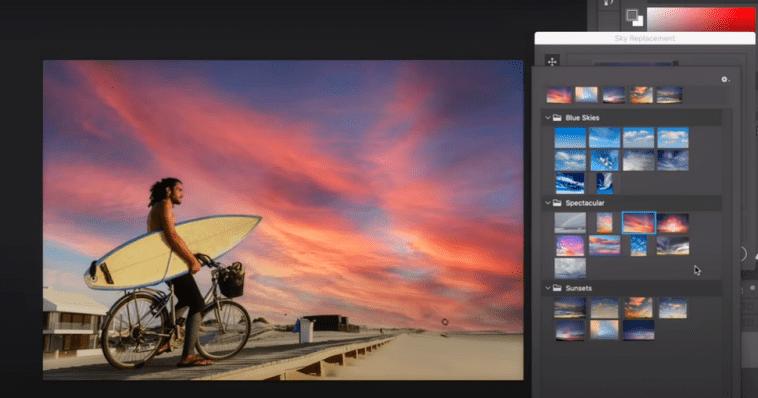 В Photoshop появится функция на ИИ для замены неба