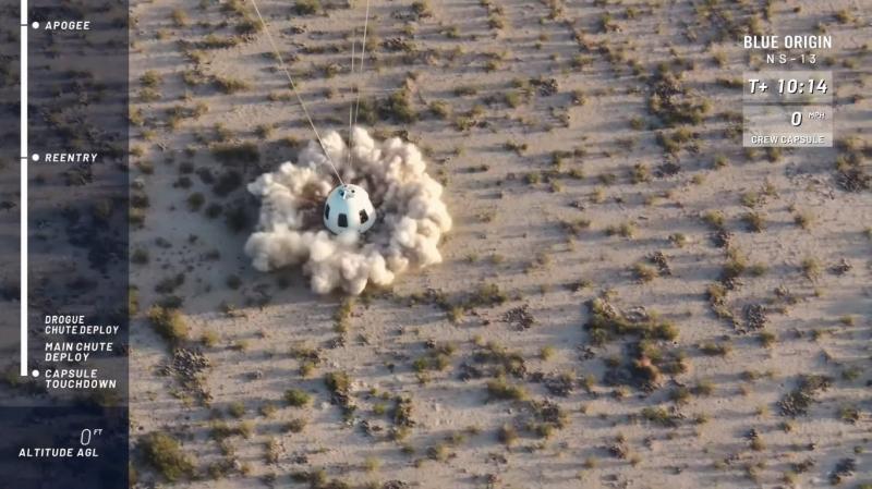 blue origin uspeshno zapustila mnogorazovuju raketu new shepard i protestirovala elementy lunnoj posadochnoj sistemy e3ac81c - Blue Origin успешно запустила многоразовую ракету New Shepard и протестировала элементы лунной посадочной системы