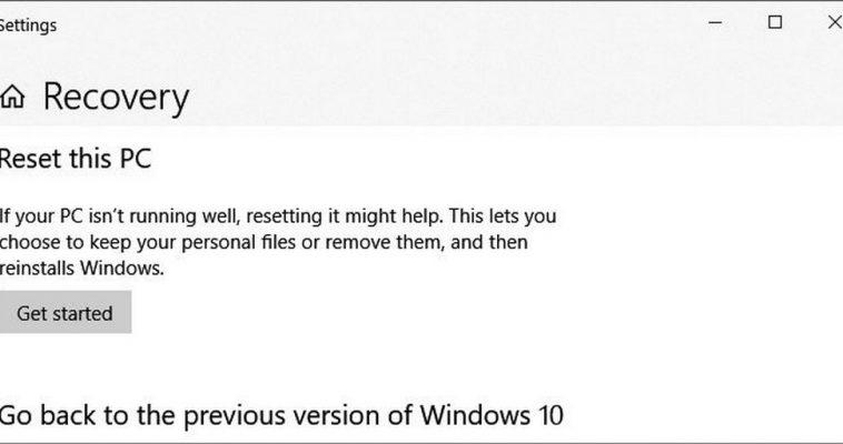 Microsoft выпустила инструкцию для исправления работы функции Windows 10 «Сбросить этот ПК»