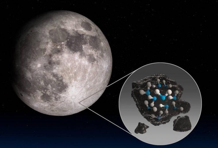 НАСА обнаружило следы воды на видимой стороне Луны