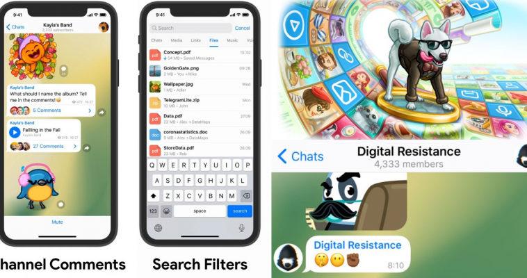 Состоялся релиз Telegram 7.1: комментарии в каналах, фильтры для поиска и анонимные администраторы в группах