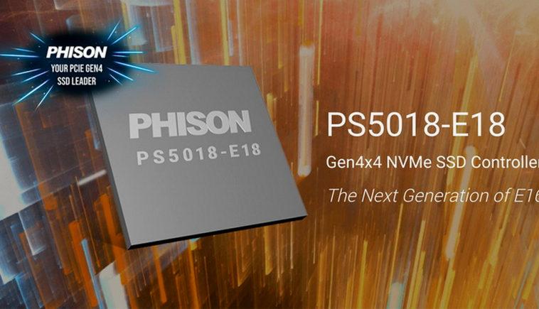 SSD-контроллер Phison E18 обеспечит скорость до 7,4 Гбайт/с