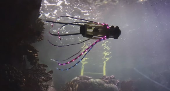 Ученые Калифорнийского университета разработали робота-кальмара для исследования подводного мира
