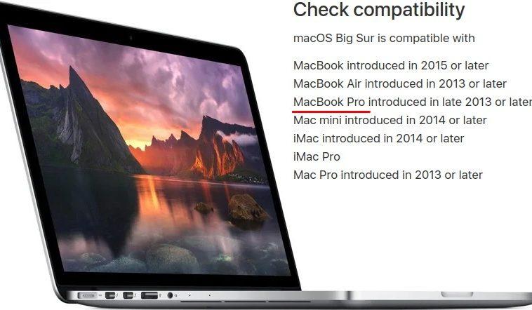 Apple пояснила, как избежать проблем при установке macOS Big Sur на старые MacBook Pro