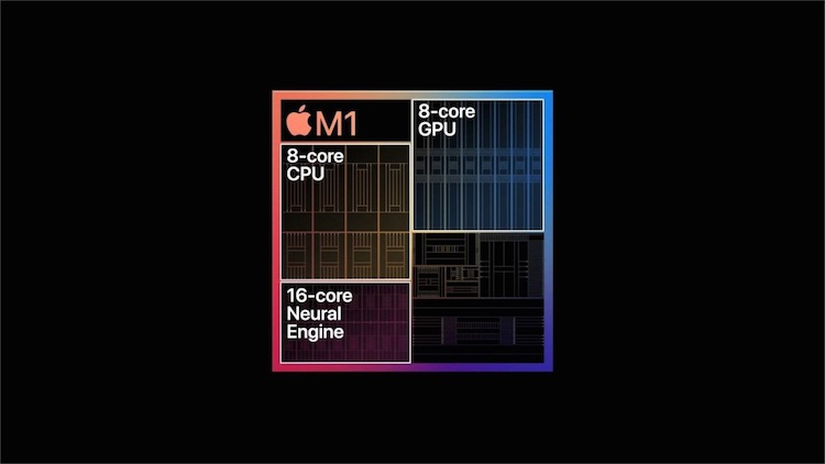 Чип Apple Silicon M1 в MacBook Air в Geekbench 5 обошел по производительности 8-ядерный Intel Core i9-9980HK в MacBook P