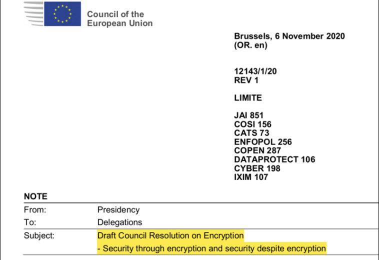 ЕС рассматривает введение запрета на сквозное шифрование
