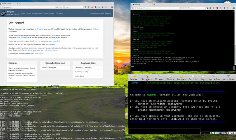 Evennia — python библиотека для текстовых онлайн-игр