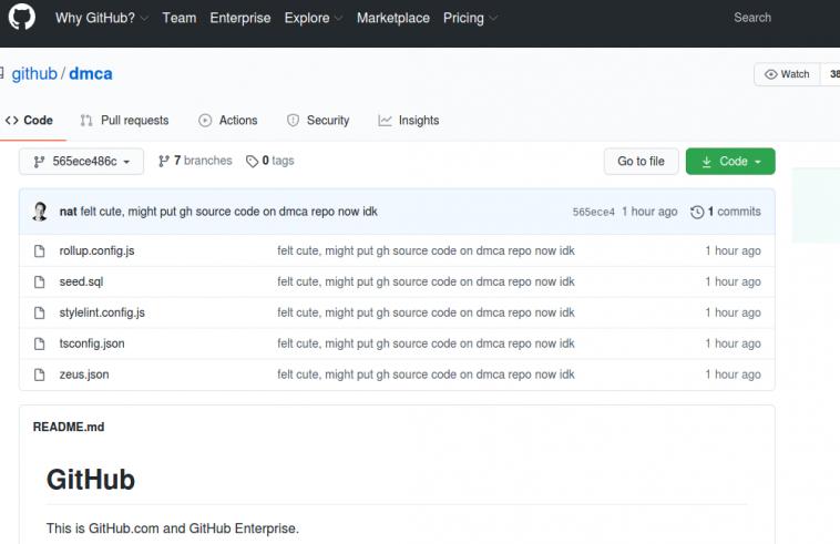 Исходные коды GitHub.com и GitHub Enterprise утекли
