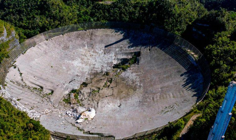 Губернатор Пуэрто-Рико выделила 8 млн $ на восстановление обсерватории Аресибо
