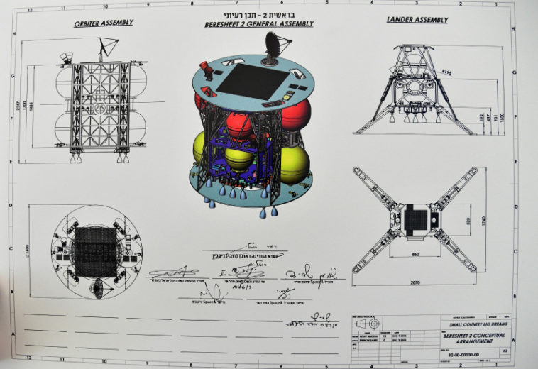 SpaceIL представила проекты космических аппаратов для изучения Луны в рамках миссии «Берешит-2»