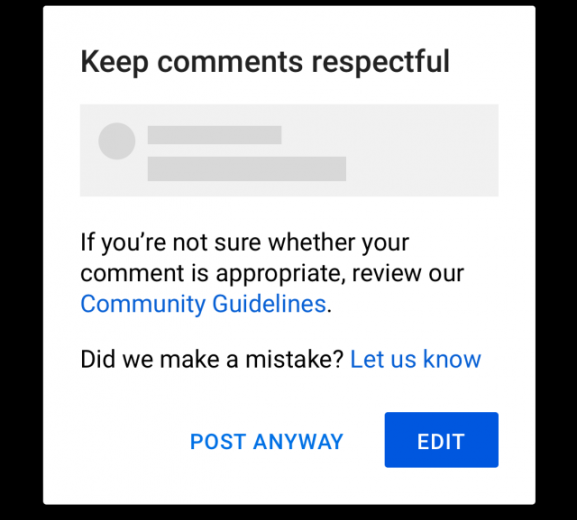 YouTube будет просить пользователей вести себя прилично в комментариях к видео