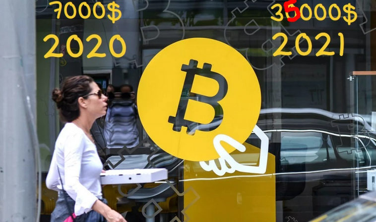 Курс биткоина впервые превысил $35 тысяч