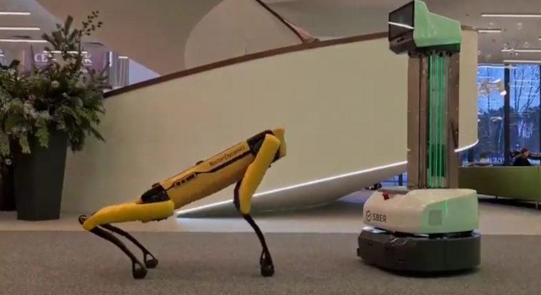 Сбер купил робота-пса Spot от Boston Dynamics