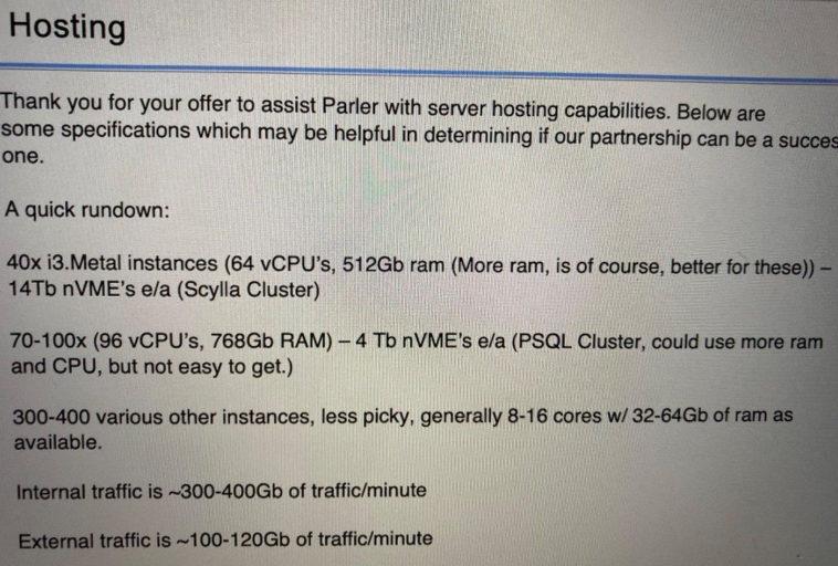 В сети раскритиковали затратность технической архитектуры Parler