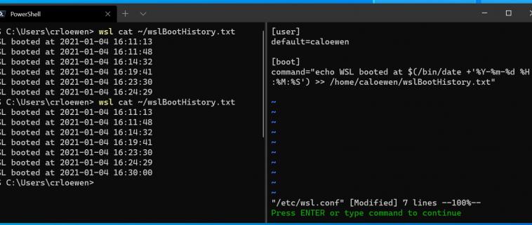 В тестовой сборке Windows 10 появилась возможность автоматически выполнять команды Linux при запуске дистрибутивов в WSL