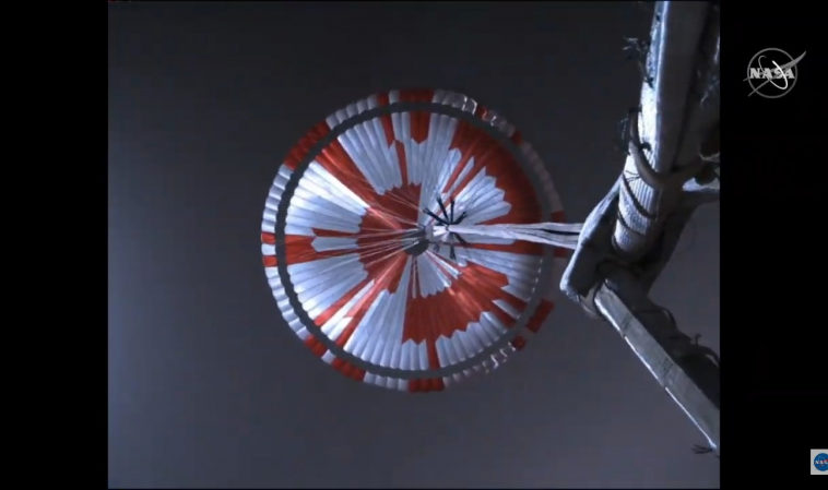 НАСА опубликовало видео посадки марсохода «Персеверанс»