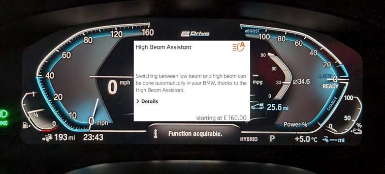 BMW уличили во взимании платы за софтверное обновление, которое не слепит других водителей на дороге