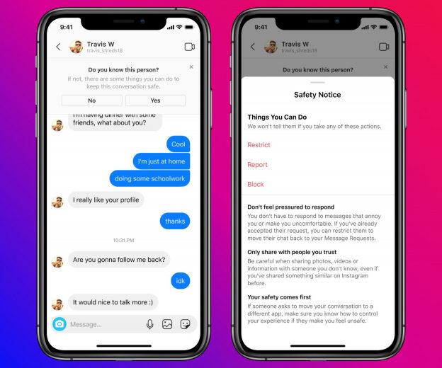 Instagram вводит ограничения на отправку сообщений несовершеннолетним пользователям