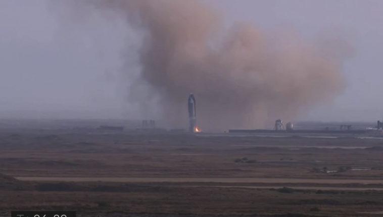 Прототип Starship впервые мягко приземлился, но всё равно взорвался