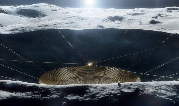 Через 20-30 лет НАСА развернет радиотелескоп на обратной стороне Луны