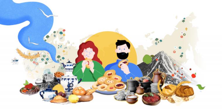 Google и Ростуризм запустили проект «Раскуси Россию» о русской кухне