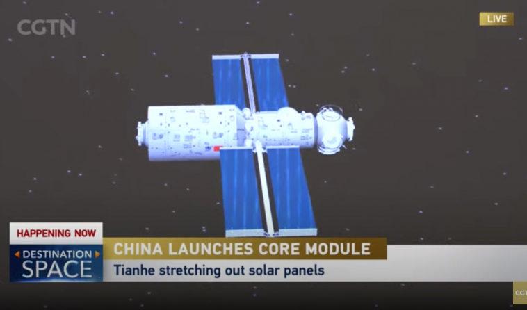 Китай успешно запустил базовый модуль «Тяньхэ» для своей орбитальной станции