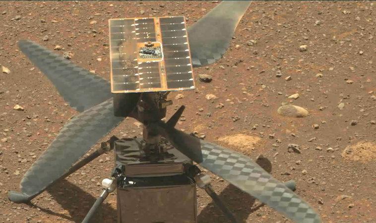 Марсианский вертолет «Индженьюити» успешно протестировал запуск лопастей на высоких оборотах со второй попытки