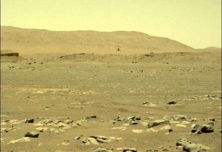 Марсианский вертолет «Индженьюити» успешно совершил свой второй полет (обновлено — добавлено видео полета)