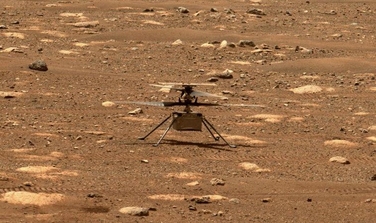 Марсианский вертолёт «Индженьюити» успешно протестировал запуск лопастей на низких оборотах