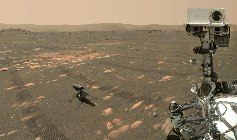 Марсоход «Персеверанс» сделал селфи с вертолетом «Индженьюити»