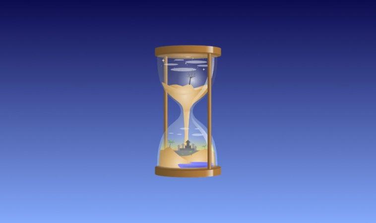 Отмеряем 15 минут при помощи песочных часов