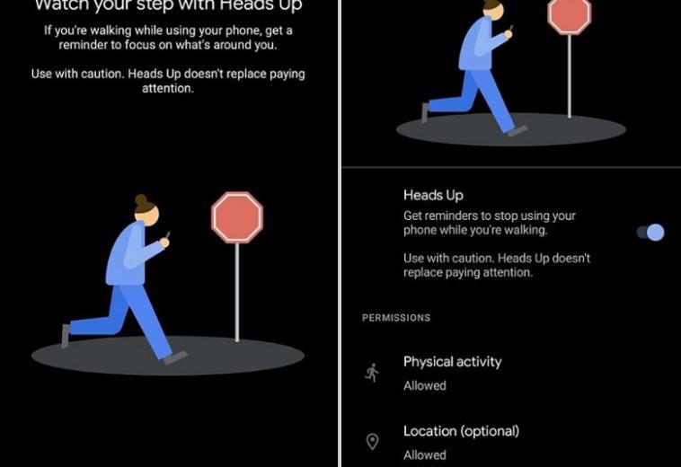В Android появится функция, которая напоминает не забываться в смартфоне при ходьбе