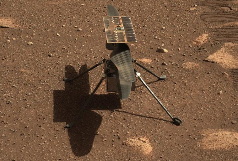 Во время теста лопастей марсианского вертолета «Индженьюити» на высоких оборотах произошла нештатная ситуация