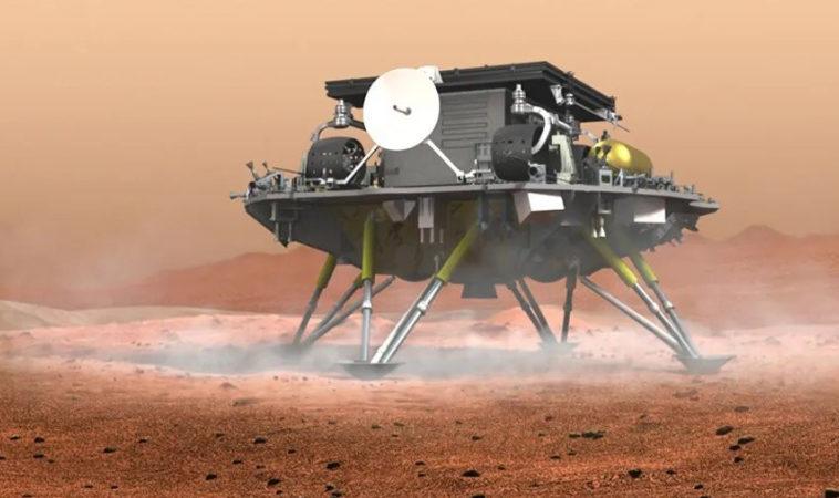 Китайская посадочная платформа с марсоходом совершила успешную посадку на Марсе