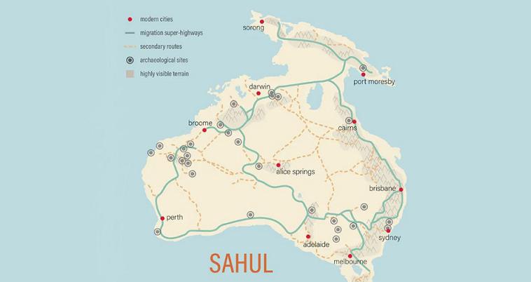 Суперкомпьютер выделил из 125 миллиардов возможных путей древнего человека в Австралии пешие магистрали