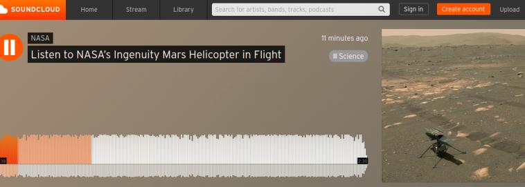 В День радио НАСА опубликовало звуки полета марсианского вертолета