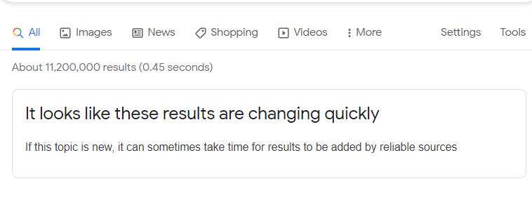 Google предупредит, что новости быстро меняются