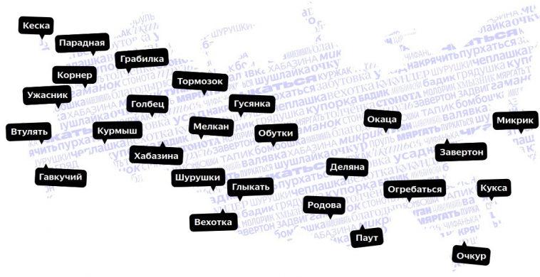 «Яндекс» представил список слов, дающий представление о региональном разнообразии русского языка