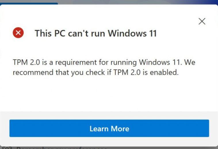 Microsoft объяснила, зачем Windows 11 нужен TPM и закрыла доступ к утилите PC Health Check, которая путала пользователей