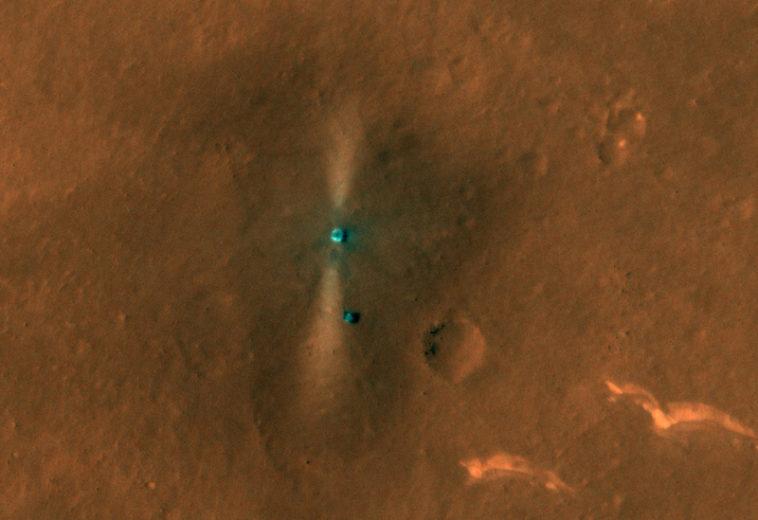 Орбитальный зонд MRO сфотографировал китайскую посадочную платформу и марсоход «Чжучжун»