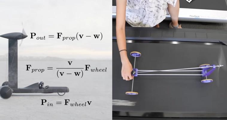 Блогер выиграл пари с физиком, доказав что ветроход Blackbird может двигаться по ветру быстрее ветра