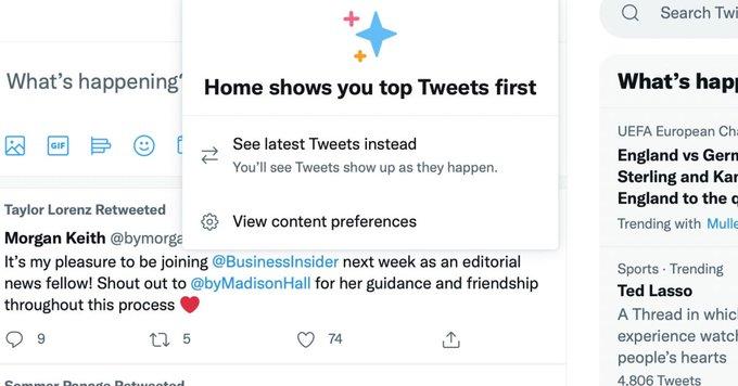 Исчезновение хронологической ленты Twitter оказалось багом