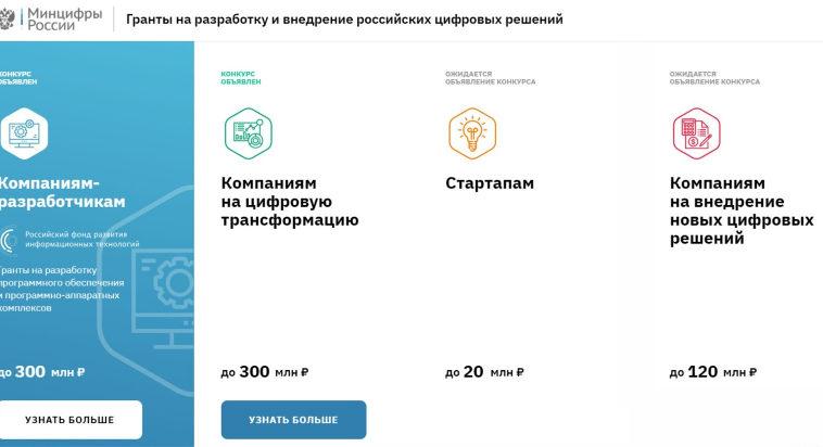 Минцифры выделило 3,8 млрд рублей на поддержку российских IT-проектов