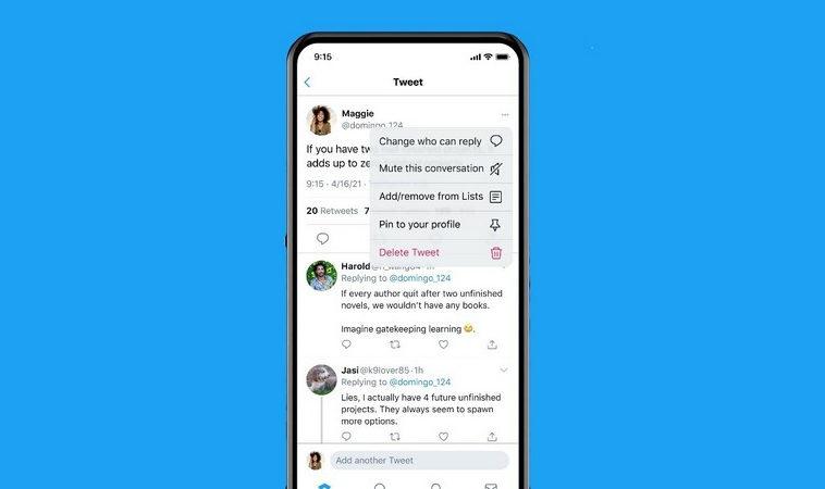 Twitter разрешил пользователям ограничивать число отвечающих на твиты после публикации