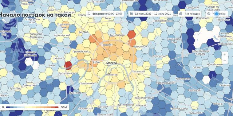 В столичном Дептрансе рассказали о карте поездок на такси «ПРОдвижение»