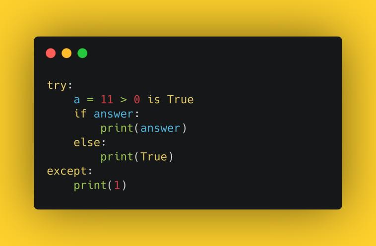 Тест «Работа с логическим типом данных» | Pythonist .ru