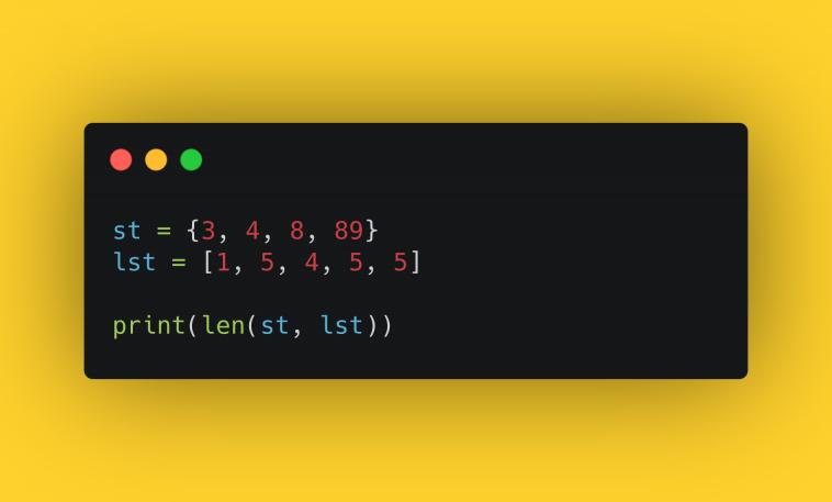 Тест. Работа с множествами в Python