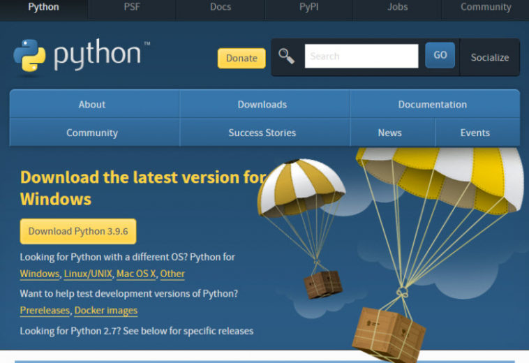 Загрузка и установка Python