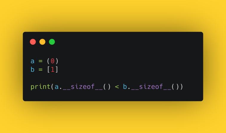 Тест по кортежам Python